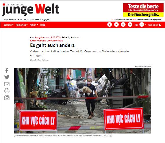 COVID-19: un journal allemand apprecie la lutte precoce et resolue du Vietnam hinh anh 1