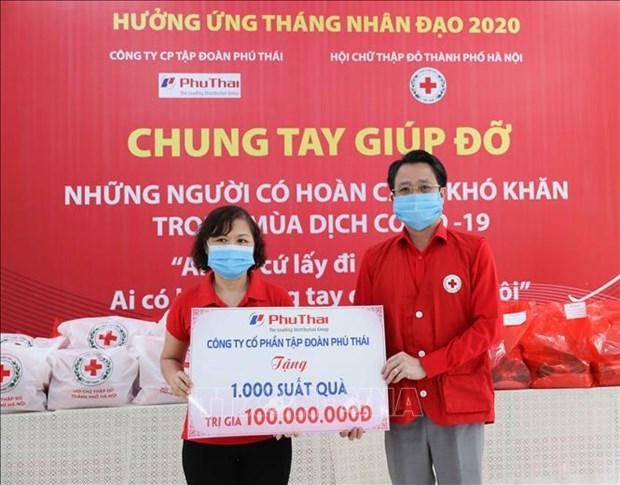 COVID-19 : Aides en faveur de milliers de personnes en situation difficile a Hanoi hinh anh 1
