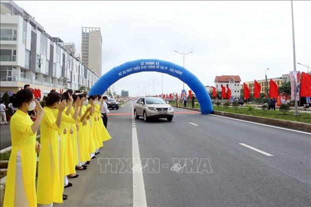 Hai Phong: une artere urbaine ouverte a la circulation hinh anh 1