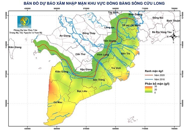 Delta du Mekong : la salinisation a tendance a diminuer mais restera elevee hinh anh 1
