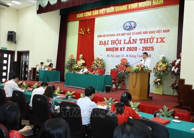 L'organisation du Parti de l'Union des organisations d'amitie du Vietnam tient son IXe congres hinh anh 2