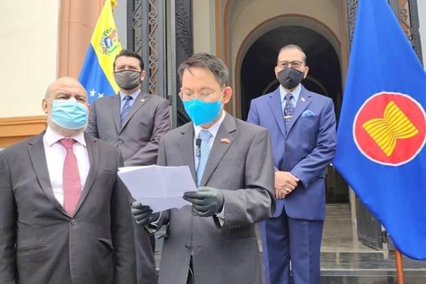 Le 53e anniversaire de la fondation de l'ASEAN celebre au Venezuela hinh anh 1