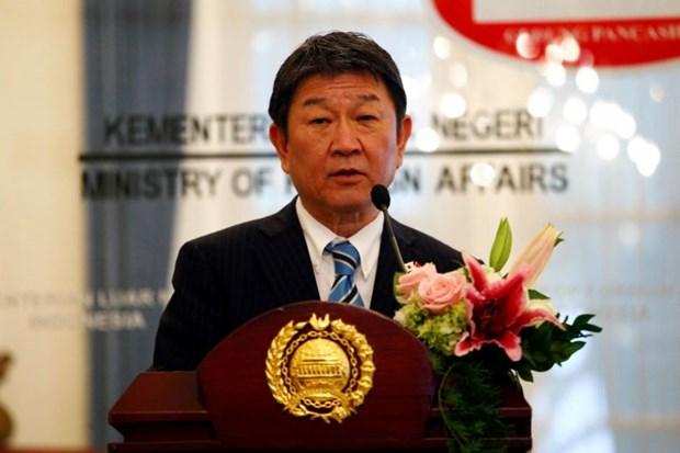 Le ministre japonais des Affaires etrangeres en visite officielle a Singapour hinh anh 1