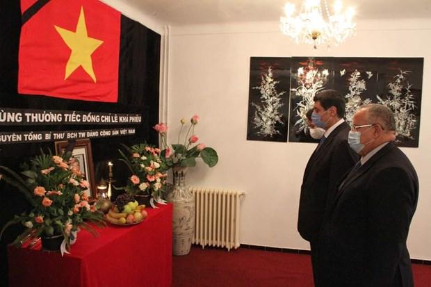 Hommage posthume a l'ancien secretaire general du Parti Le Kha Phieu en Algerie et en Slovaquie hinh anh 1