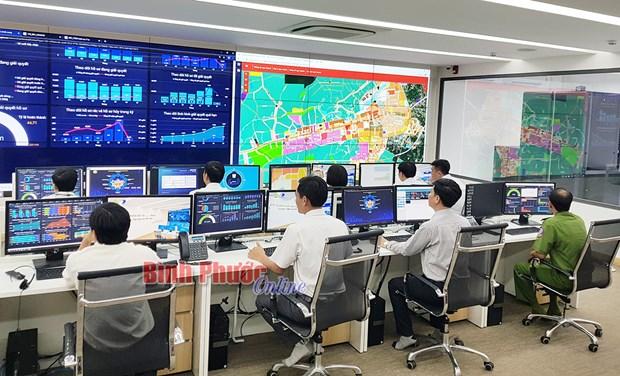 Binh Phuoc met en service un centre d'administration intelligente hinh anh 1
