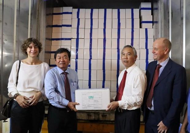 Le premier lot de crevettes du Vietnam exporte vers l'UE dans le cadre de l'EVFTA hinh anh 1