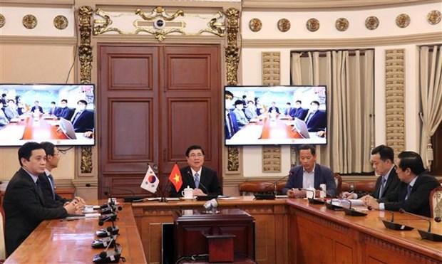 Ho Chi Minh-Ville et Busan vont mettre en place un groupe de travail intersectoriel hinh anh 1