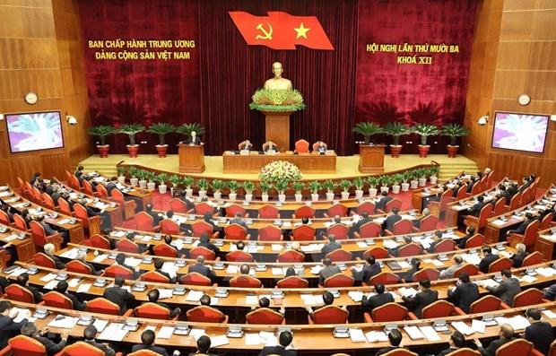 Le 13e Plenum du Comite central du Parti s'ouvre a Hanoi hinh anh 1