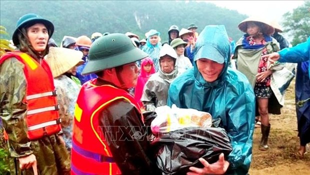 Inondations au Centre : le Front de la Patrie du Vietnam se tient aux cotes des sinistres hinh anh 1