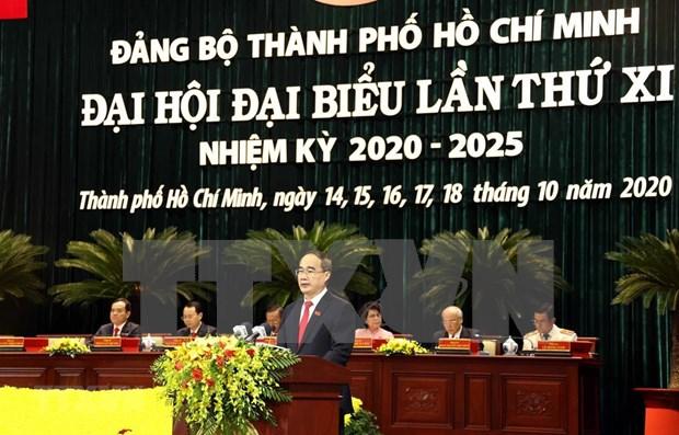 Ouverture du 11e Congres de l'organisation du Parti de Ho Chi Minh-Ville hinh anh 1