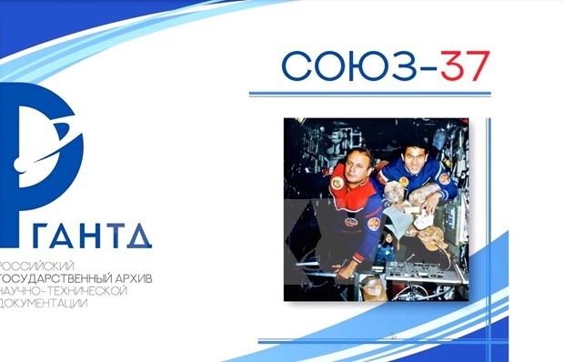 Lancement d'imprime special pour celebrer les 40 ans du voyage spatial Vietnam-Russie hinh anh 1