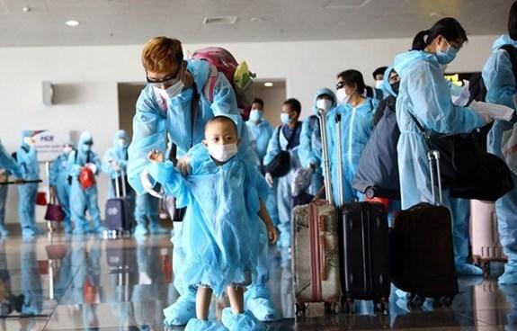 Covid-19 : pres de 350 Vietnamiens rapatries de Russie hinh anh 1