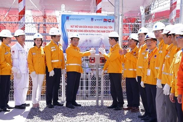 PV Gas accueille le premier flux de gaz du champs SV au gazoduc de Nam Con Son 2 hinh anh 1