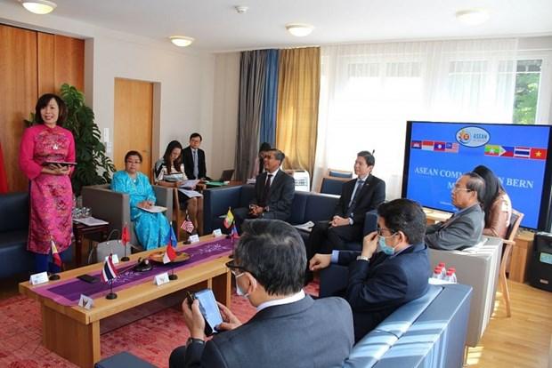 L'ambassade du Vietnam s'efforce d'assurer la presidence du Comite de l'ASEAN a Berne hinh anh 1