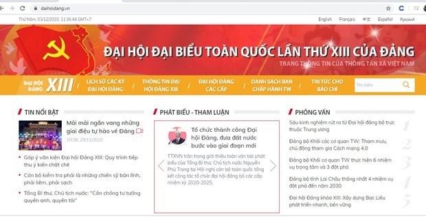 La VNA devoile une page web speciale sur le 13e Congres du PCV hinh anh 3