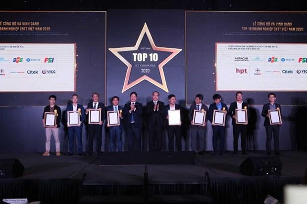 La VINASA honore les 10 meilleures entreprises d'informatique en 2020 hinh anh 1
