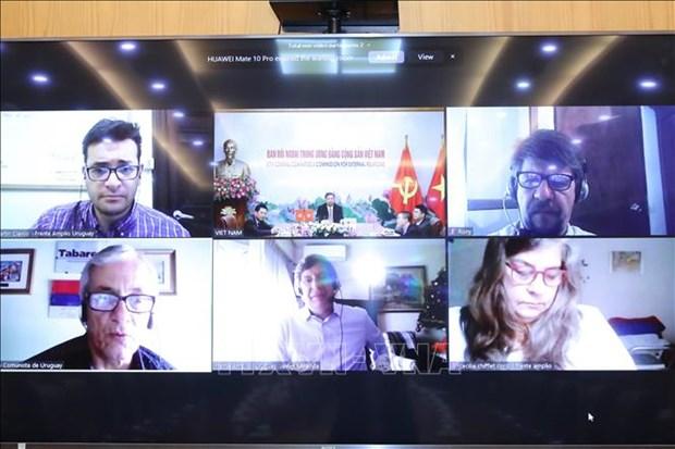 Echange en ligne entre le PCV et des Partis politiques d'Uruguay hinh anh 2