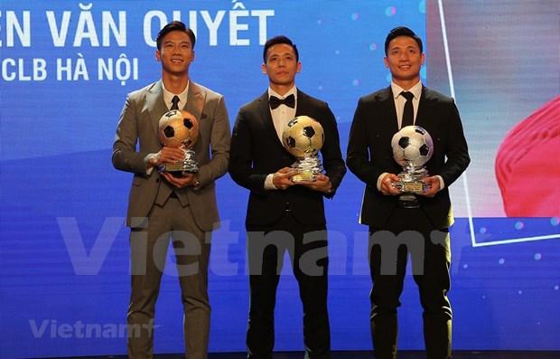 Nguyen Van Quyet et Huynh Nhu laureats du Ballon d'Or du Vietnam 2020 hinh anh 1
