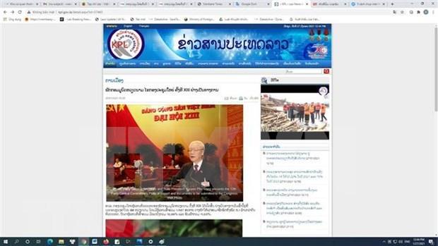 La seance d'ouverture du 13e Congres du Parti attire l'attention de medias du Laos hinh anh 1