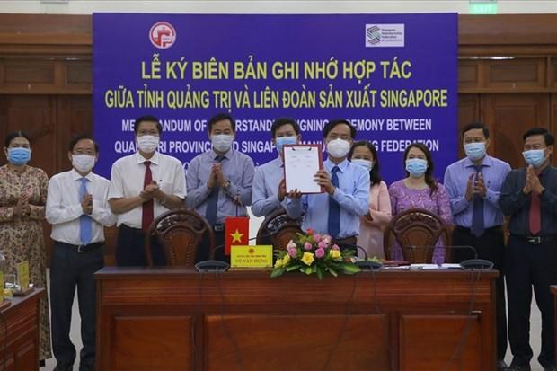 Des experts singapouriens aident Quang Tri a elaborer son plan d'amenagement hinh anh 1