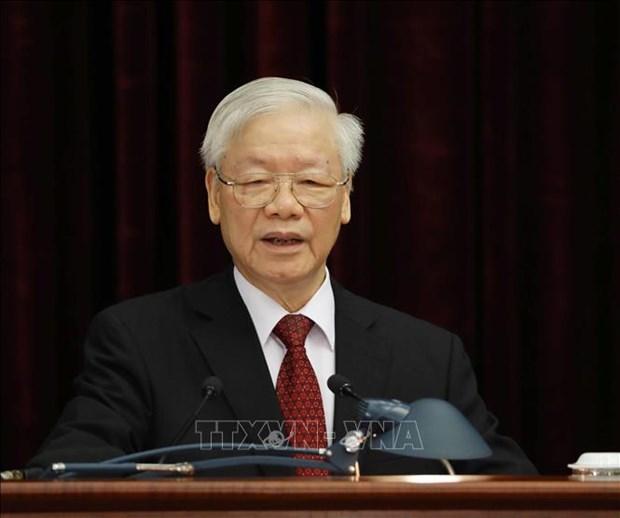 Le leader du Parti insiste sur l'edification du Parti dans la nouvelle periode hinh anh 2