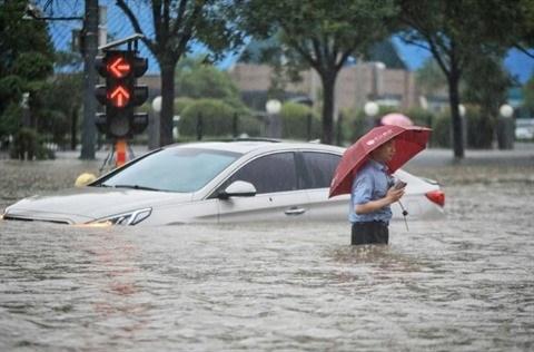 Inondations en Chine: message de sympathie du Vietnam hinh anh 1