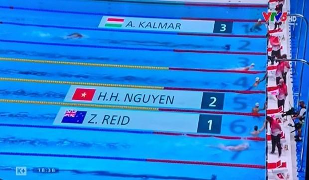 JO de Tokyo 2020 : Nguyen Huy Hoang se concurrence aujourd'hui dans le 1.500 m nage libre hommes hinh anh 1
