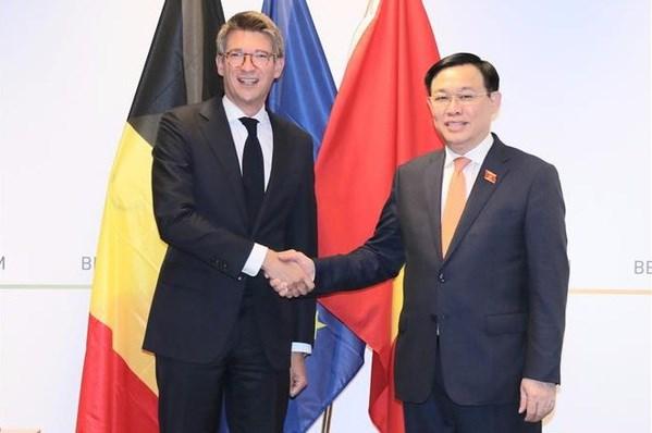 Le Vietnam souhaite renforcer la cooperation dans tous les domaines avec la Belgique hinh anh 1
