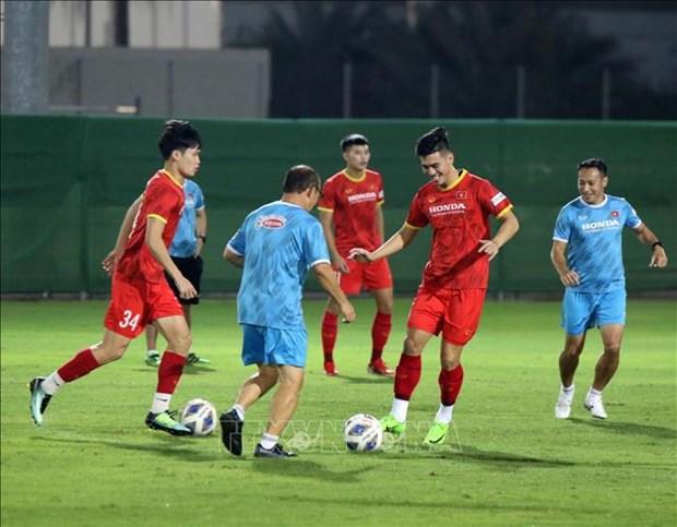 Coupe du Monde de la FIFA: l'equipe vietnamienne se prepare bien a son match contre la Chine hinh anh 1