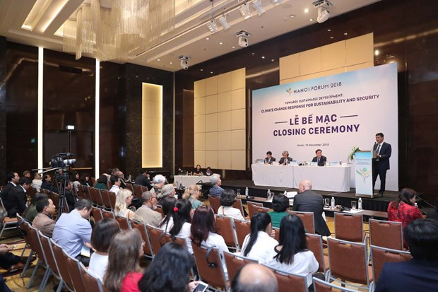 Cloture du Forum de Hanoi 2018 sur le changement climatique hinh anh 1