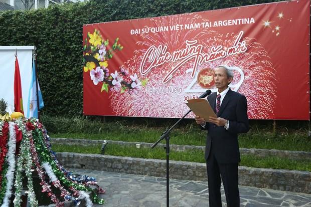 La diaspora vietnamienne en Argentine celebre le Tet hinh anh 1