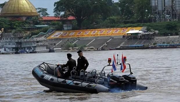 Quatre pays lancent la 80e patrouille conjointe sur le Mekong hinh anh 1