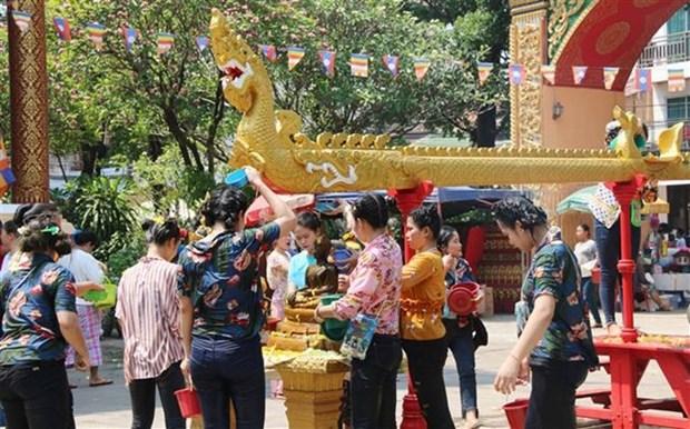 La fete du Nouvel An traditionnel bat son plein au Laos hinh anh 1