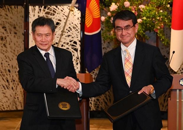 L'ASEAN et le Japon signent l'accord de cooperation technique hinh anh 1