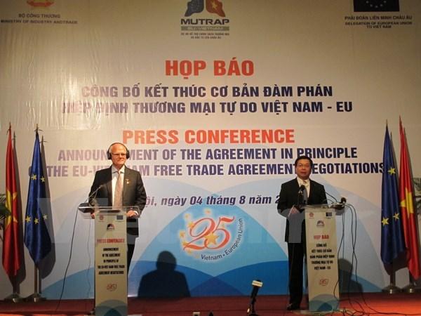 Libre-echange : accord de principe Vietnam-UE hinh anh 1