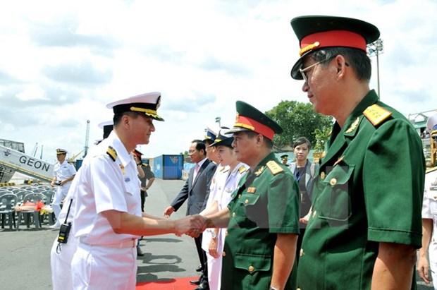 Un navire de la Marine sud-coreenne en visite a HCM-Ville hinh anh 1