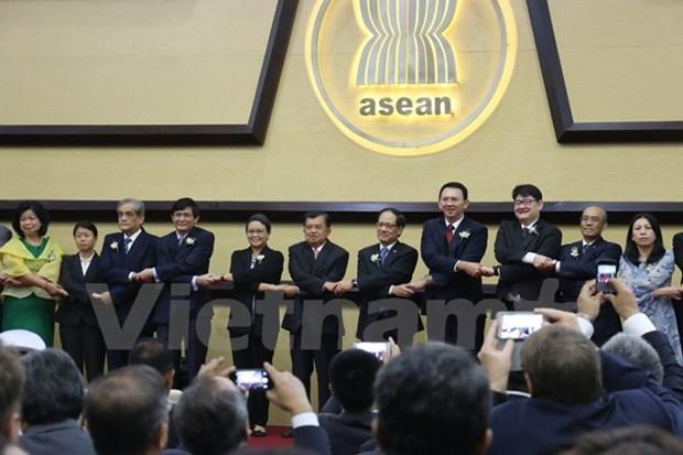 Celebration du 48e anniversaire de la creation de l'ASEAN hinh anh 1