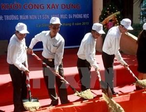 Debut de la construction d'une maternelle sur l'ile de Ly Son hinh anh 1