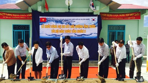 Aide sud-coreenne pour l'adduction d'eau courante a Ninh Thuan hinh anh 1