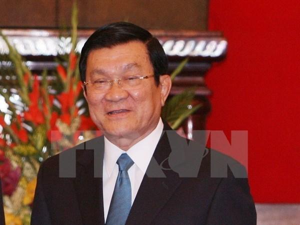 Le president Truong Tan Sang travaille avec l'Association des juristes du Vietnam hinh anh 1