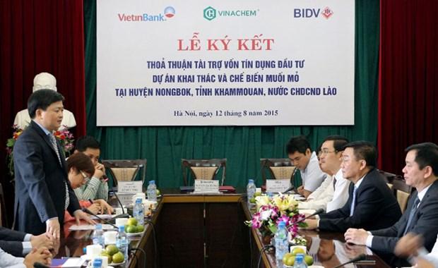 VietinBank accorde 3.000 milliards de dongs a un projet de Vinachem au Laos hinh anh 1