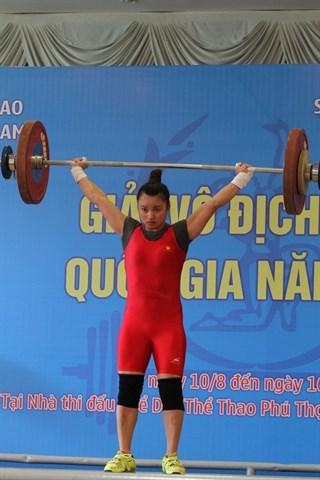 Hanoi remporte le championnat national d'halterophilie 2015 hinh anh 1