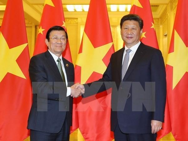 Rencontre Truong Tan Sang-Xi Jinping hinh anh 1