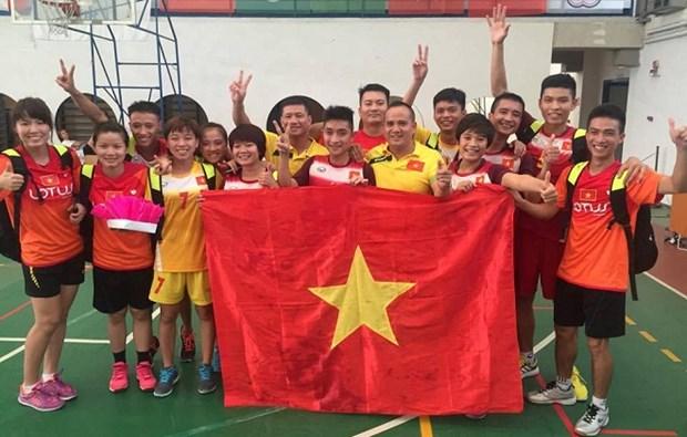 Deux medailles d'or pour le Vietnam au Championnat du monde de plum-foot hinh anh 1