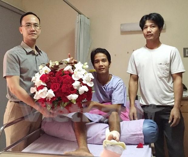 Le Vietnamien blesse lors de l'attentat a Bangkok est rapatrie hinh anh 1