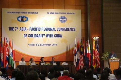 La 7e conference regionale d'Asie-Pacifique de solidarite avec Cuba a Hanoi hinh anh 1