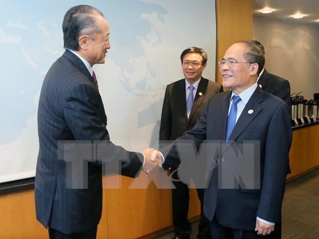Nguyen Sinh Hung rencontre le president de la Banque mondiale hinh anh 1