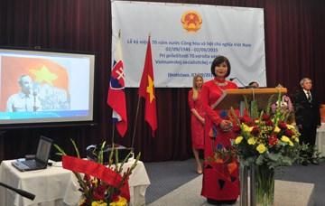 Celebration des 70 ans d'independance du Vietnam en Slovaquie hinh anh 1