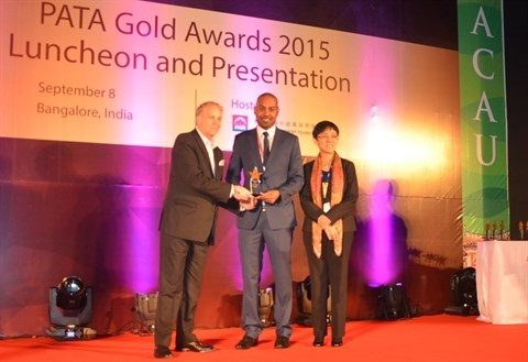 VietjetAir distingue du «PATA Gold Awards 2015» en Inde hinh anh 1