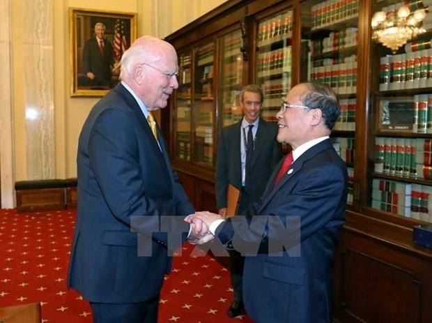Succes de la visite aux Etats-Unis de Nguyen Sinh Hung hinh anh 1